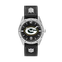 Men's Green Bay Packers Guard Leather Watch