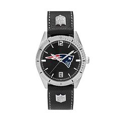 Men's New England Patriots Guard Leather Watch