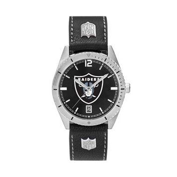 Men's Oakland Raiders Guard Leather Watch