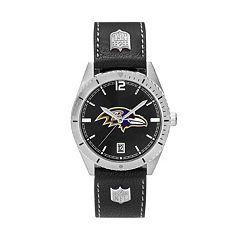 Men's Baltimore Ravens Guard Leather Watch