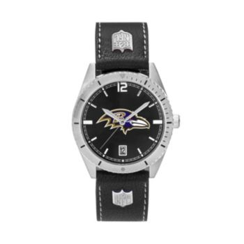 Men's Baltimore Ravens Guard Leather Watch