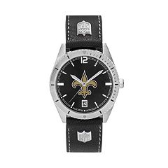 Men's New Orleans Saints Guard Leather Watch