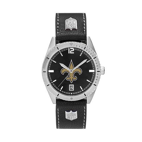 Men's New Orleans Saints Guard Leather Watch