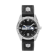 Men's Seattle Seahawks Guard Leather Watch