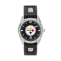 Men's Pittsburgh Steelers Guard Leather Watch