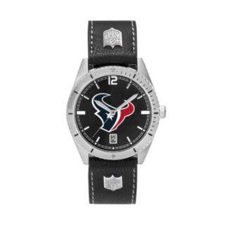 Men's Houston Texans Guard Leather Watch