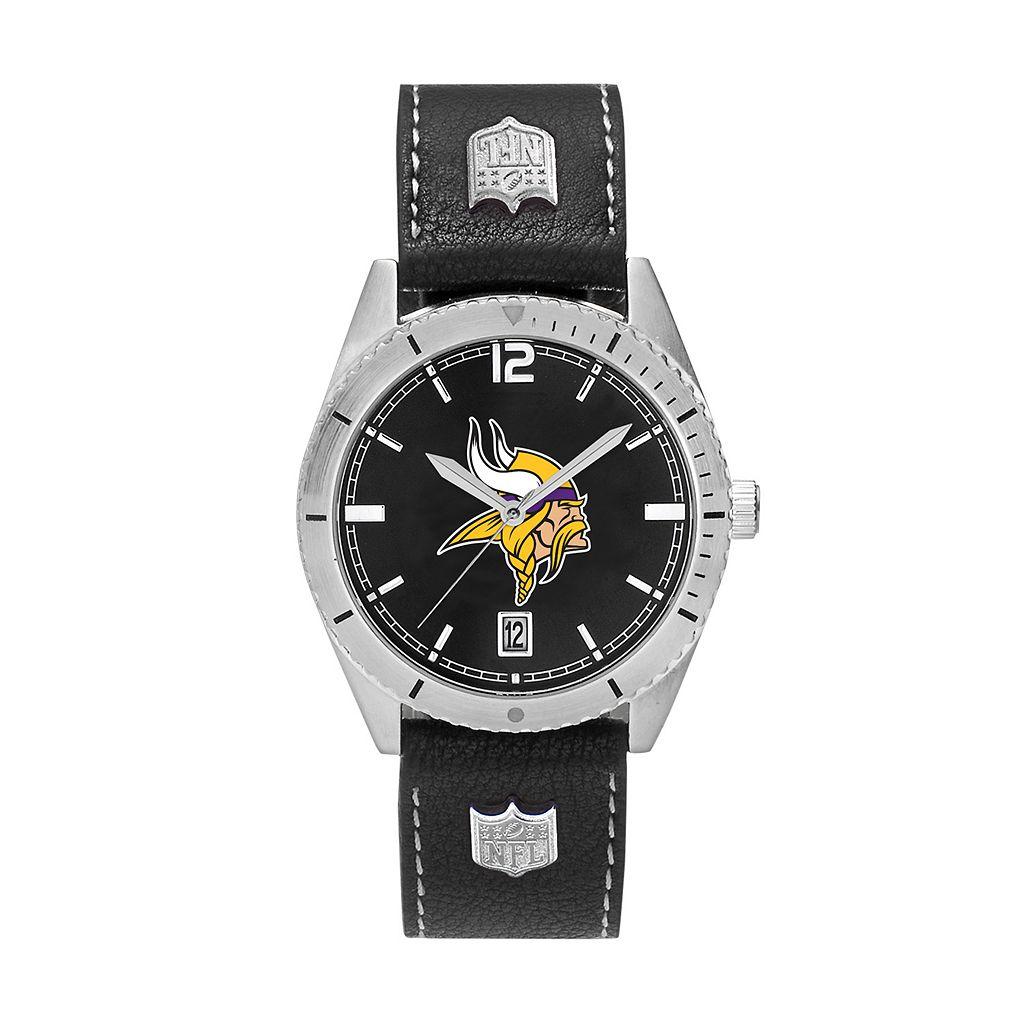 Men's Minnesota Vikings Guard Leather Watch