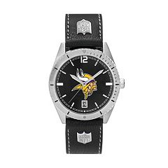 Men's Minnesota Vikings Guard Leather Watch