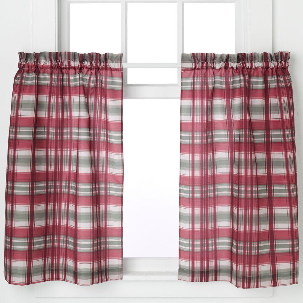 Dawson 2-pack Plaid Tier Kitchen Window Curtain Set