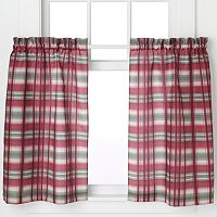 Dawson 2-pack Plaid Tier Kitchen Window Curtain Set