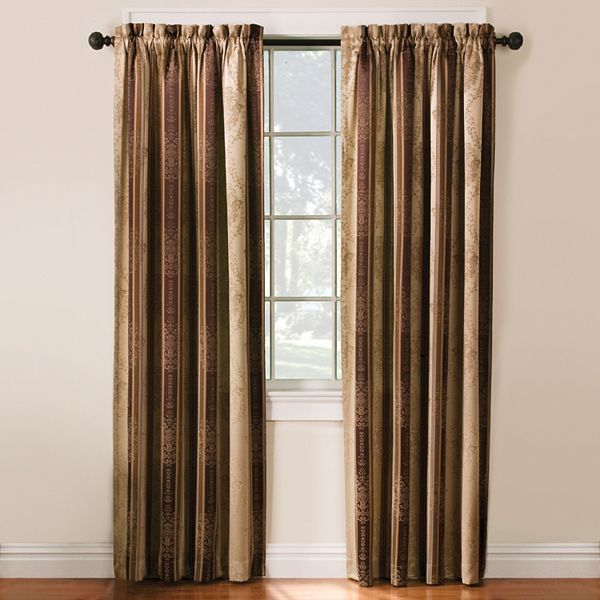 Thermatec 2 Pack Tuscan Stripe Blackout Window Curtains