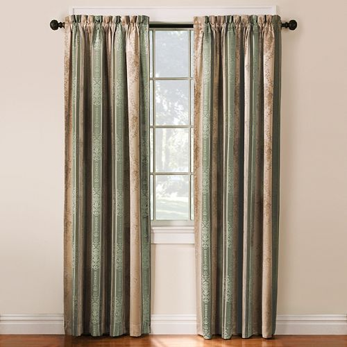 Thermatec 2-pack Tuscan Stripe Blackout Window Curtains