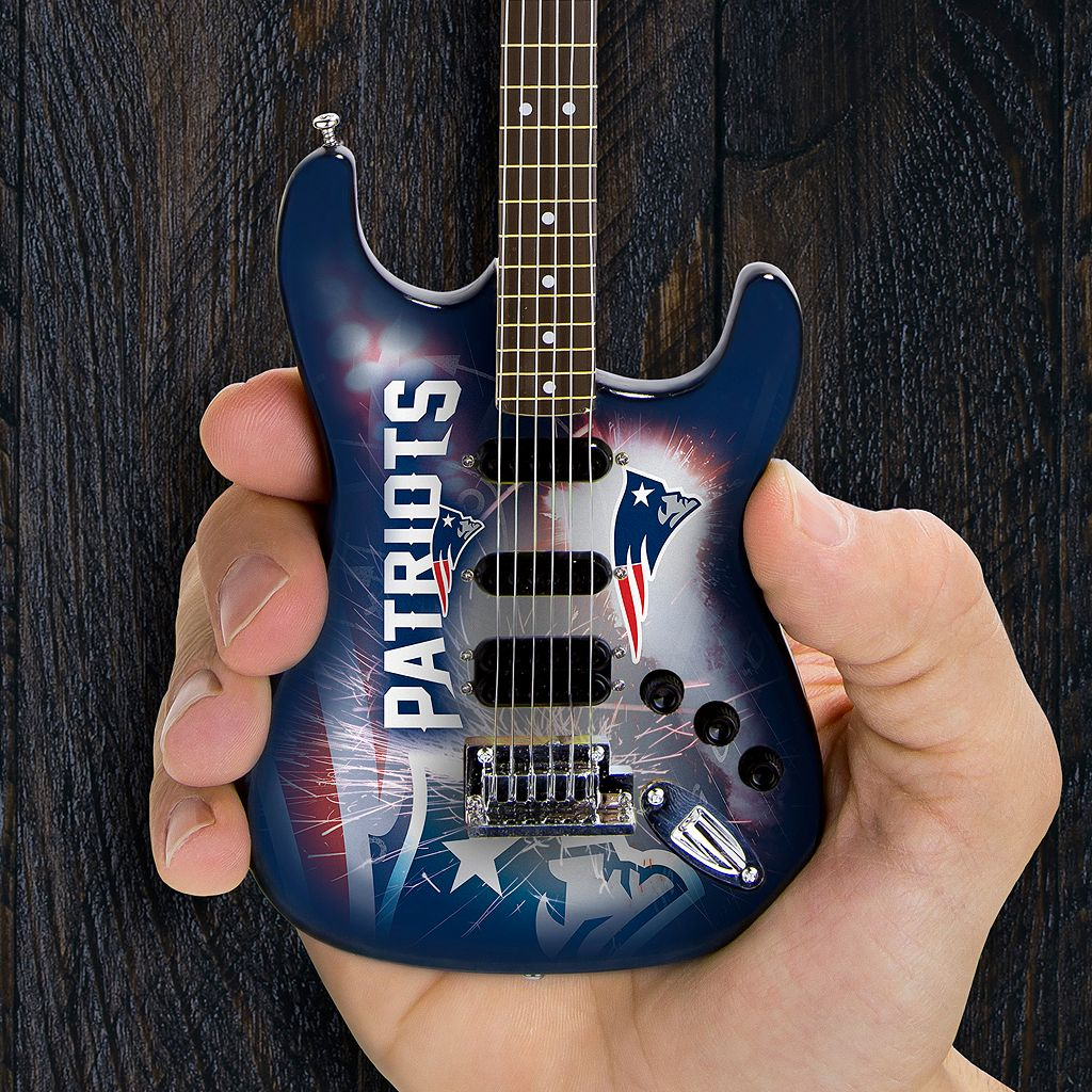 New England Patriots NorthEnder Collector Series Mini Replica Electric Guitar