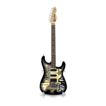 New Orleans Saints NorthEnder Collector Series Mini Replica Electric Guitar