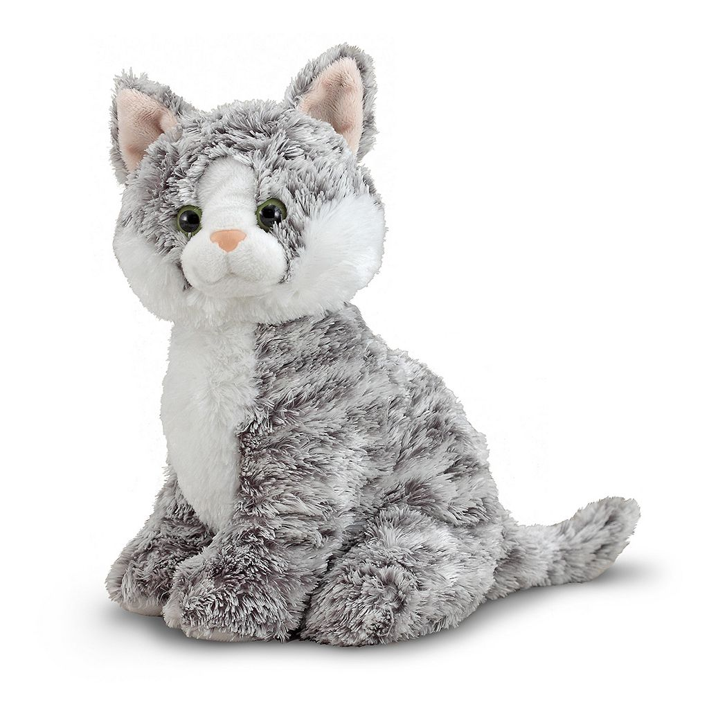 Melissa & Doug Greycie Tabby Kitten Plush Toy