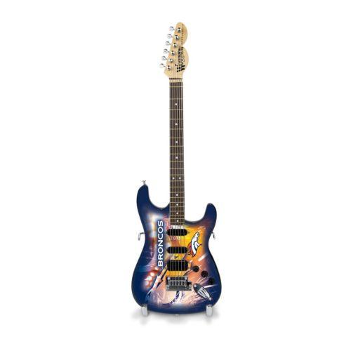 Denver Broncos NorthEnder Collector Series Mini Replica Electric Guitar