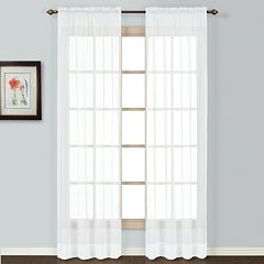 United Curtain Co. 1-Panel Batiste Window Panel