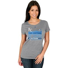 Majestic Kansas City Royals 2015 MLB Playoffs Division Champs Tee - Women's