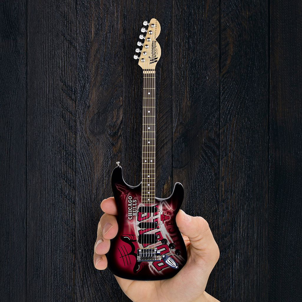 Chicago Bulls NorthEnder Collector Series Mini Replica Electric Guitar