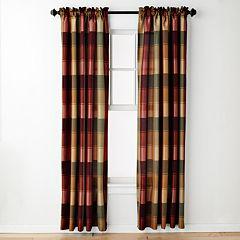 United Curtain Co. Plaid Window Curtain