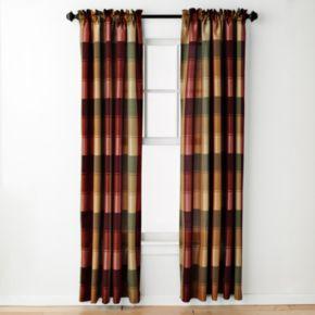 United Curtain Co. 1-Panel Plaid Window Curtain
