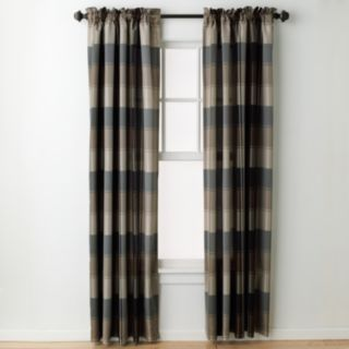 United Curtain Co. 1-Panel Plaid Window Curtain