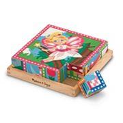 Melissa & Doug 16 pc Princess & Fairy Cube Puzzle Set