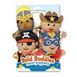 Melissa & Doug 4-pc. Bold Buddies Hand Puppets Set
