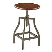 Ave Six Sullivan Swivel Stool with Walnut Finish