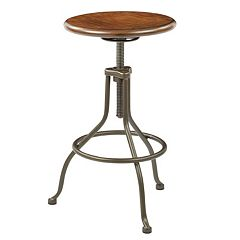 Ave Six Sullivan Pewter Swivel Stool