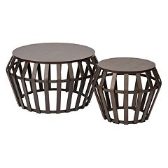 OSP Designs Solana 2 pc Round Accent Tables