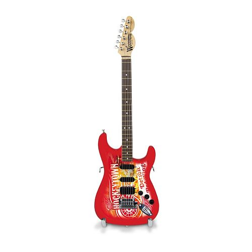 Detroit Red Wings NorthEnder Collector Series Mini Replica Electric Guitar