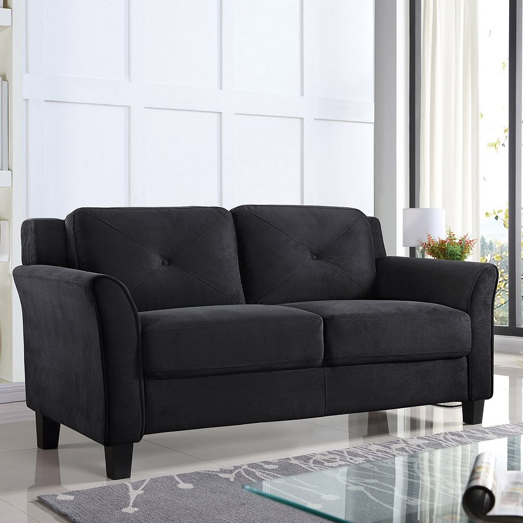 Lifestyle Solutions Hartford Curved Arm Loveseat