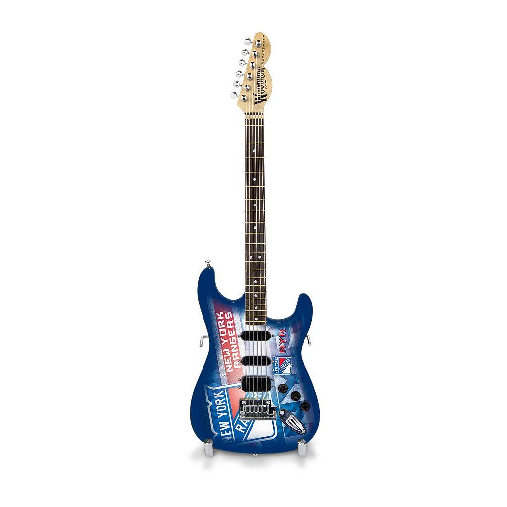New York Rangers NorthEnder Collector Series Mini Replica Electric Guitar