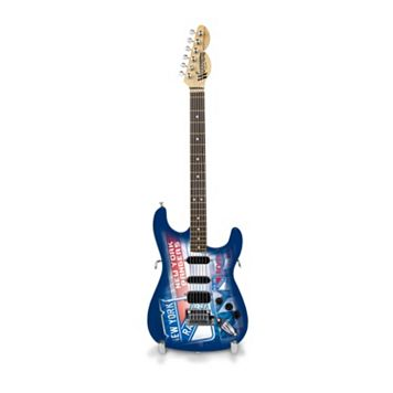 New York Rangers NorthEnder Collector Series Mini Replica Electric Guitar