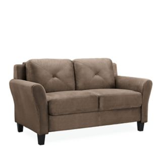 Lifestyle Solutions Hartford Rolled Arm Loveseat