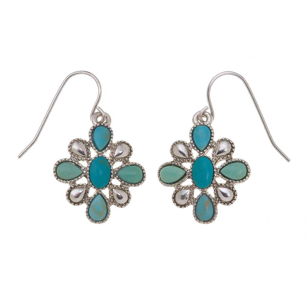 Chaps Flower Concha Drop Earrings