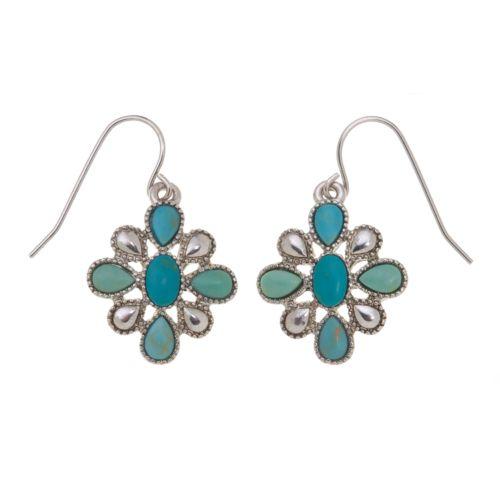 Chaps Flower Concha Drop Earrings