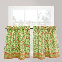 Park B. Smith Boutique Flowers Tier Window Curtain Set