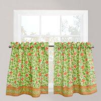 Park B. Smith 2-pk. Boutique Flowers Tier Curtains