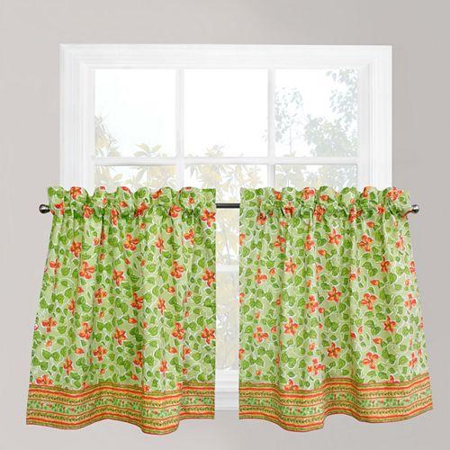Park B. Smith Boutique Flowers Tier Kitchen Window Curtain Set