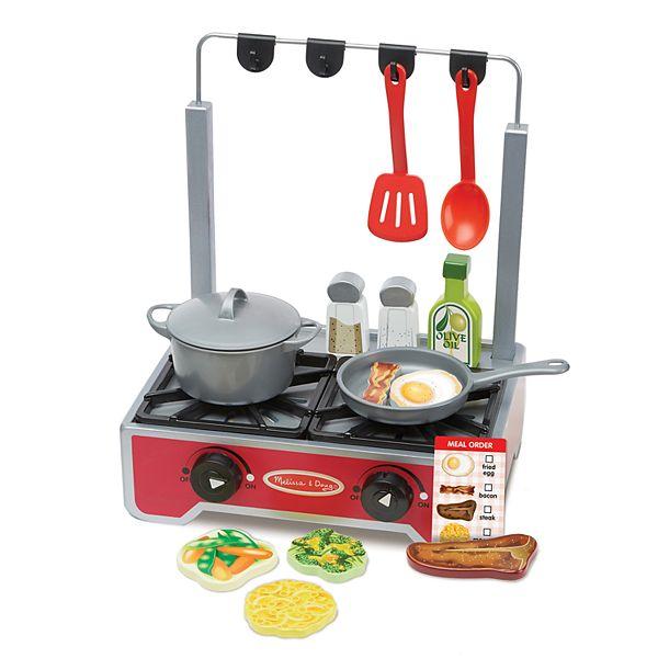 Melissa Doug 17 Pc Deluxe Wooden Cooktop Set
