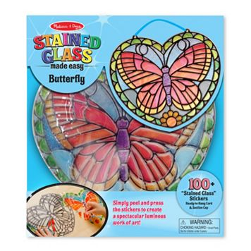 Melissa & Doug Stained Glass Made Easy Butterfly Set