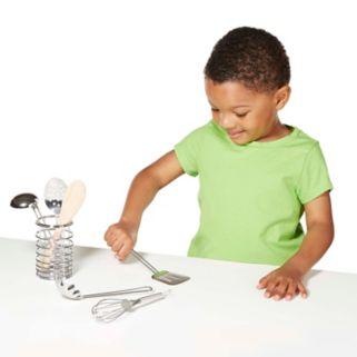 Melissa & Doug Let's Play House! Stir & Serve Cooking Utensils Play Set
