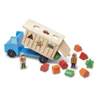 Melissa & Doug Shape Sorting Dump Truck Play Set