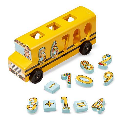Melissa & Doug Number Matching Math Bus Play Set