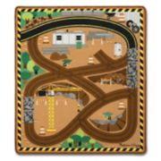 Melissa & Doug Round the Site Construction Truck Rug Play Set