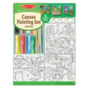 Melissa & Doug Animals Canvas Painting Set