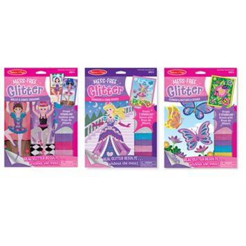 Melissa & Doug Mess-Free Glitter Princess, Ballet & Butterfly Set