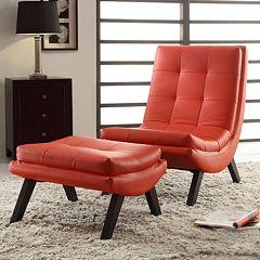 Ave Six Tustins Lounge Chair and Ottoman Set